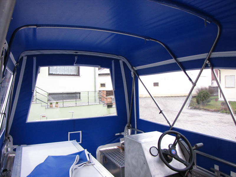 Verdeck Barro RTB 500 Aluminiumboot Bootsverdeck Persenning 11