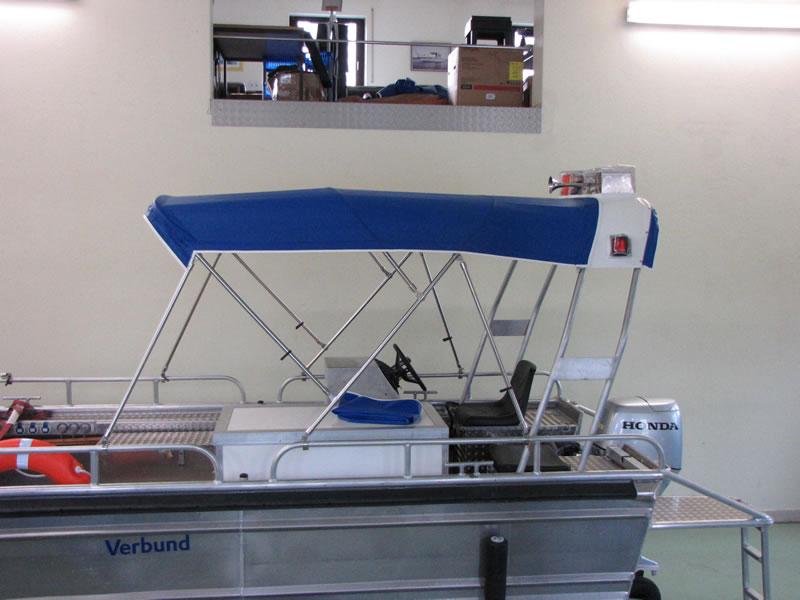 Verdeck Barro RTB 500 Aluminiumboot Bootsverdeck Persenning 16