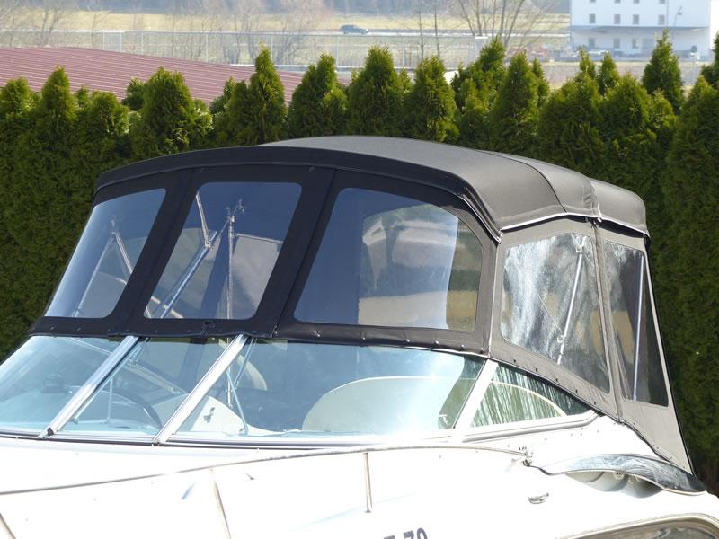 Verdeck Crownline 250 CR mit Edelstahlgestaenge Persenning 06