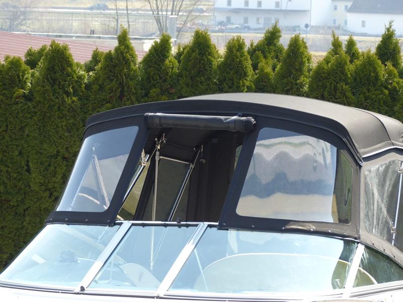 Verdeck Crownline 250 CR mit Edelstahlgestaenge Persenning 31
