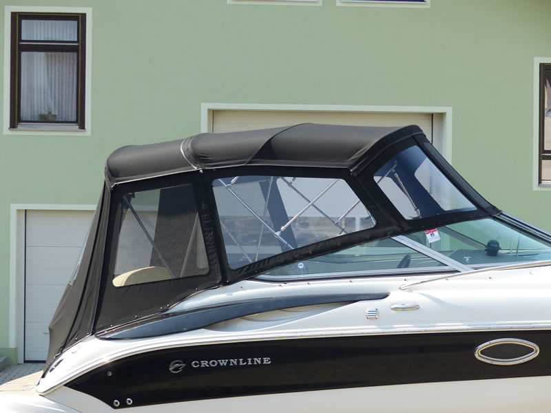 Verdeck Crownline 250 CR mit Edelstahlgestaenge Persenning 34