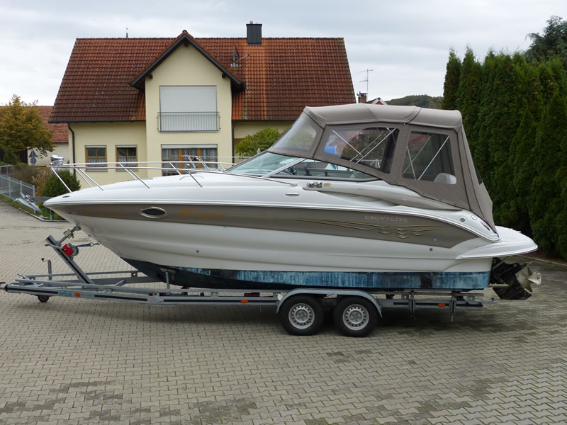 Camperverdeck Crownline 250 CR Sunbrella Plus Taupe 03