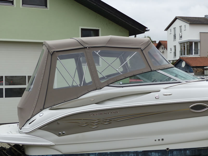 Camperverdeck Crownline 250 CR Sunbrella Plus Taupe 13