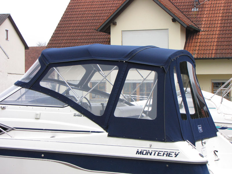 Verdeck mit Gestaenge Edelstahl Monterey 246 SEL Bootsverdeck Persenning 14