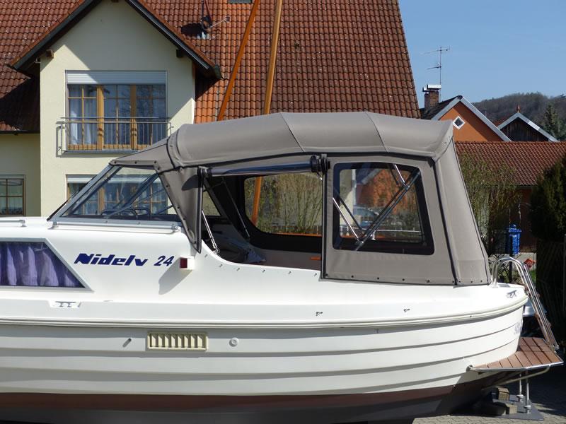 Verdeck Nidelv 24 Bootsverdeck Persenning 05