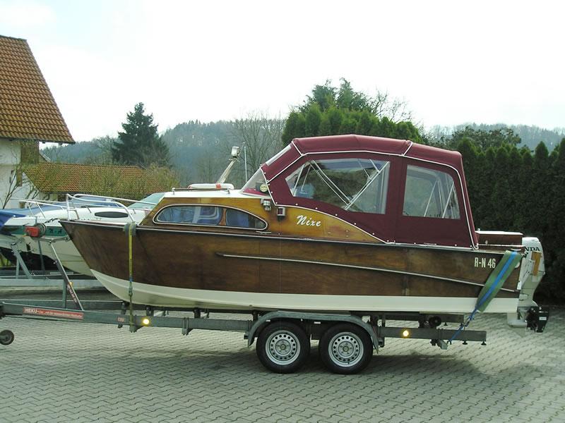 Verdeck Nixe Holzboot Persenning 01