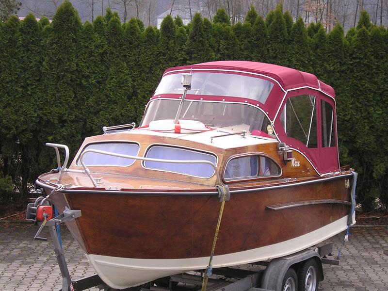 Verdeck Nixe Holzboot Persenning 02