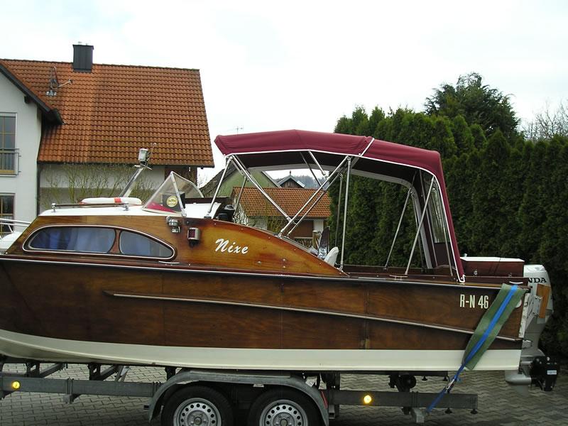 Verdeck Nixe Holzboot Persenning 08