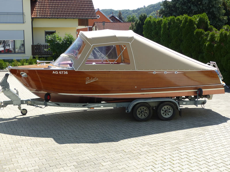 Verdeck Portier Holzboot Bootsverdeck 03