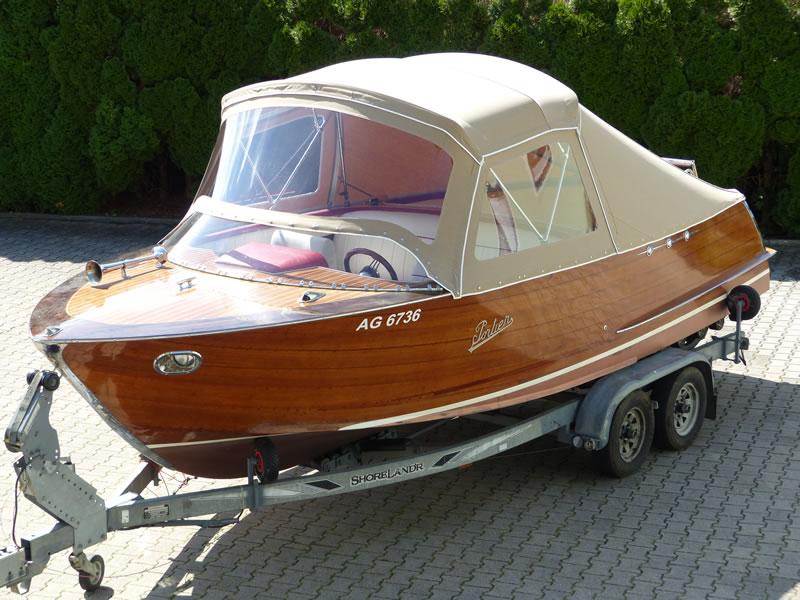Verdeck Portier Holzboot Bootsverdeck 08