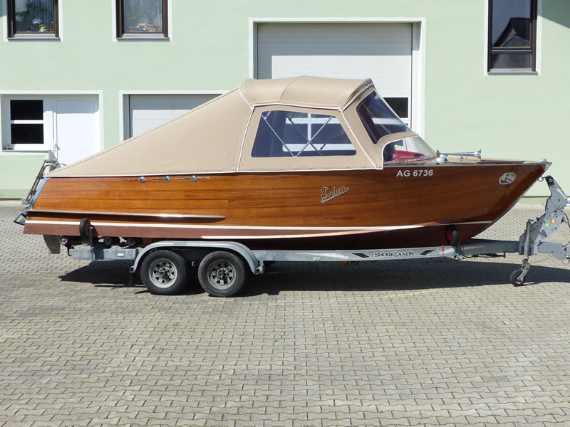 Verdeck Portier Holzboot Bootsverdeck 16