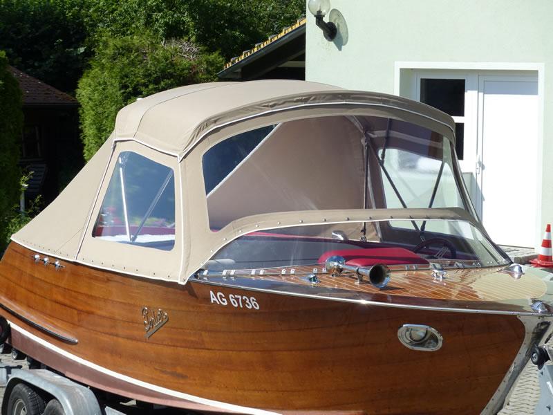 Verdeck Portier Holzboot Bootsverdeck 23