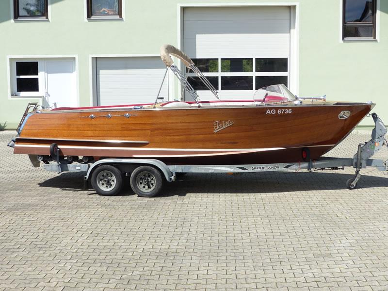 Verdeck Portier Holzboot Bootsverdeck 26