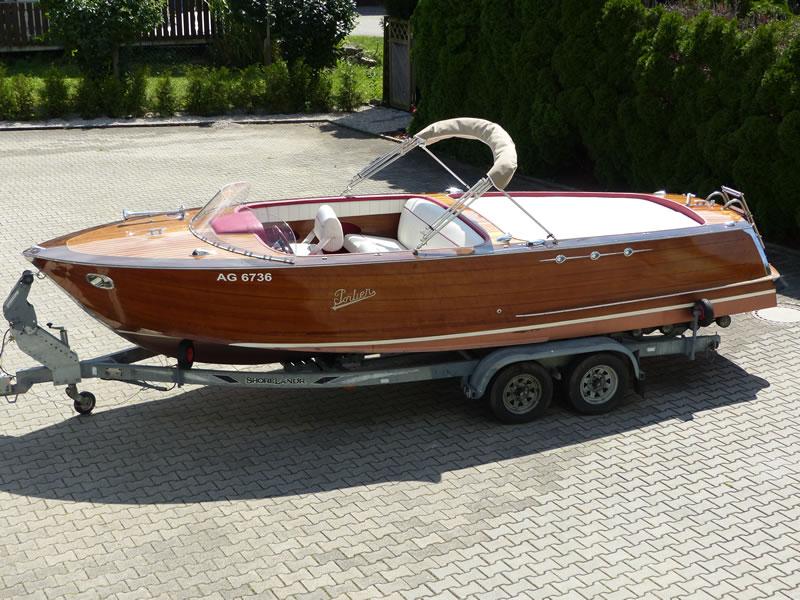 Verdeck Portier Holzboot Bootsverdeck 28