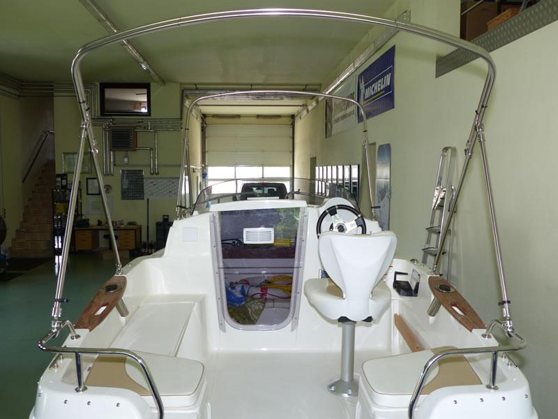 Verdeck Quicksilver activ 430 cabin Bootsverdeck Persenning 22