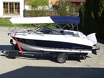 Bimini Coaster 600 DC seitlicher Sonnenschutz Sonnenverdeck 01