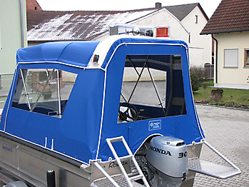 Verdeck Barro RTB 500 Aluminiumboot Bootsverdeck Persenning 09