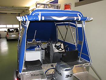 Verdeck Barro RTB 500 Aluminiumboot Bootsverdeck Persenning 10