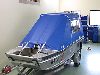 Verdeck Barro RTB 500 Aluminiumboot Bootsverdeck Persenning 15