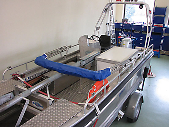 Verdeck Barro RTB 500 Aluminiumboot Bootsverdeck Persenning 21