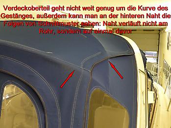 Altes Verdeck Bavaria 29 Sport zum Vergleich 11