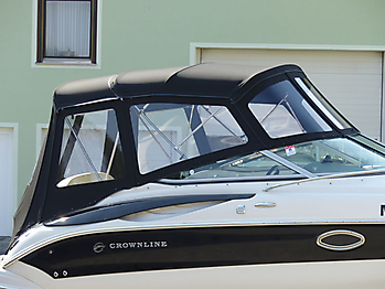 Verdeck Crownline 250 CR mit Edelstahlgestaenge Persenning 13