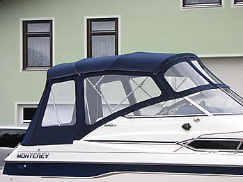 Verdeck mit Gestaenge Edelstahl Monterey 246 SEL Bootsverdeck Persenning 11