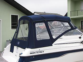 Verdeck mit Gestaenge Edelstahl Monterey 246 SEL Bootsverdeck Persenning 12