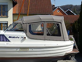 Verdeck Nidelv 24 Bootsverdeck Persenning 04