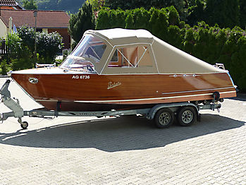 Verdeck Portier Holzboot Bootsverdeck 05