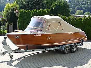 Verdeck Portier Holzboot Bootsverdeck 06