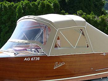Verdeck Portier Holzboot Bootsverdeck 07