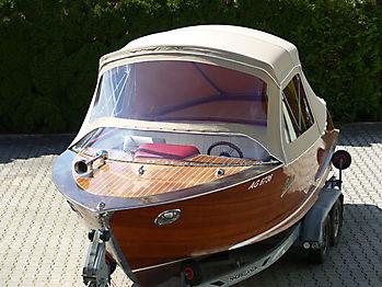 Verdeck Portier Holzboot Bootsverdeck 10