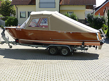 Verdeck Portier Holzboot Bootsverdeck 17