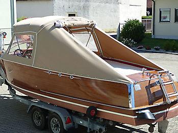 Verdeck Portier Holzboot Bootsverdeck 21